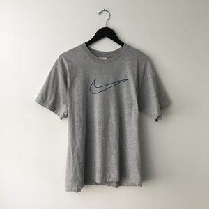 90s Vintage Nike Graphic Tee Shirt Active Gray M